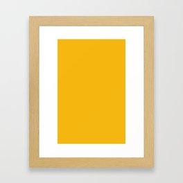 Solid Retro Yellow Framed Art Print