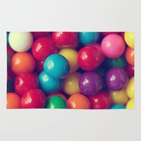 gumball Area & Throw Rugs featuring Gumball Fun by Amelia Kay Photography