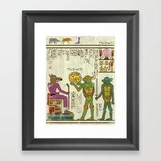 hero-glyphics: TMNT Framed Art Print