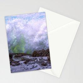 Inner Strength waves crashing at Moonstone Beach California Stationery Cards