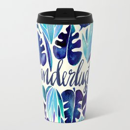 Tropical Wanderlust – Blue Travel Mug