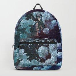 Love Finger Snap Space Floral Backpack