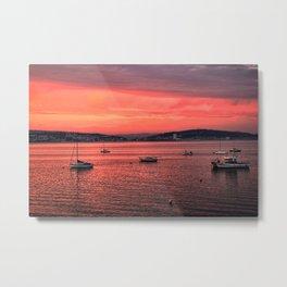 Mumbles Harbour after Sunset. Metal Print