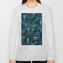 Watercolor Floral & Birds IV Long Sleeve T-shirt