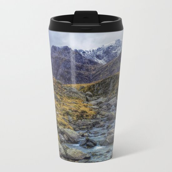 Snowdonia Mountains Metal Travel Mug