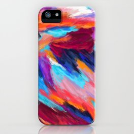 Bright Abstract Brushstrokes iPhone Case