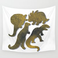 dino Wall Tapestries featuring dino mix by gasponce