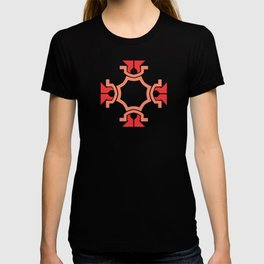 Red four sides T-shirt