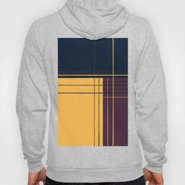 Abstract graphic I Dark blue Purple Yellow Hoody