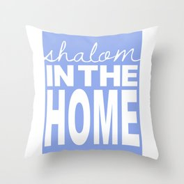 Shalom in the Home, lavender Throw Pillow