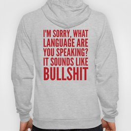 I'm Sorry, What Language Are You Speaking? It Sounds Like Bullshit (Red) Hoody