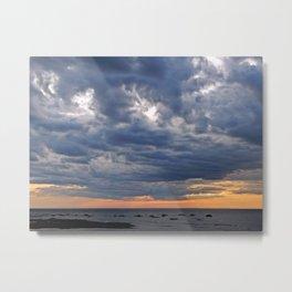 Dramatic Skies Over the Sea Metal Print