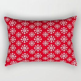 Winter Wonderland Snowflake Christmas Pattern Rectangular Pillow