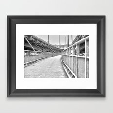 Pedestrian Bridge Framed Art Print