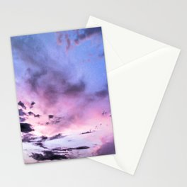 fly up to the blue pink sky Stationery Cards