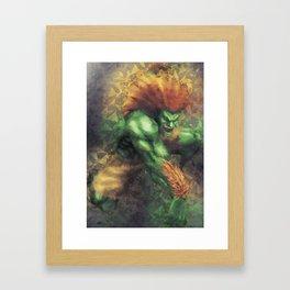 Street Fighter 2 - Blanka Framed Art Print