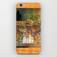 western iPhone & iPod Skins featuring WESTERN GOLD by VIAINA