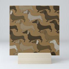 Dachshund Dogs Mini Art Print