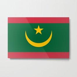 Flag of Mauritania Metal Print