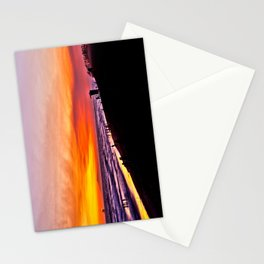 HB Sunsets ~ North Side Of The Huntington Beach Pier  Stationery Cards