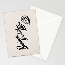 Business Industry Labor with Gears in Black Stationery Cards
