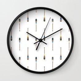 Painted Paddle Pattern Wall Clock