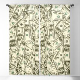 100 dollar bills Blackout Curtain