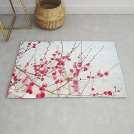 Beautiful Cherry Blossoms at the Imperial Palace in Kyoto, Japan Rug