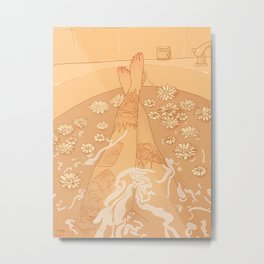 Flower Bath 10 (uncensored version) Metal Print