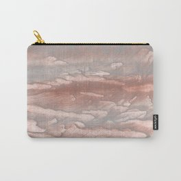 Dark gray nebulous wash drawing design Carry-All Pouch