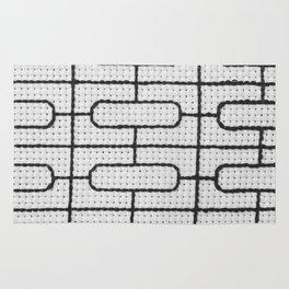 Vintage Window Grille Cross Stitch Pattern #7 Rug