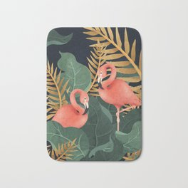 Two Flamingos Bath Mat