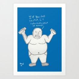 Blue Butter Art Print