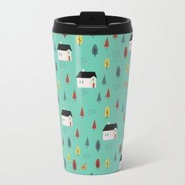 Countryside Pattern Travel Mug