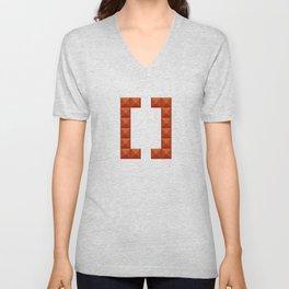 Square brackets sign art print in beautiful design Fashion Modern Style Unisex V-Neck