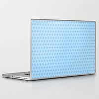 scandinavian Laptop & iPad Skins featuring Scandinavian blue by There is no spoon