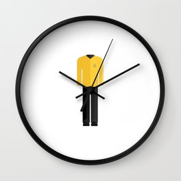 Fictional Vulcan Captain Character Minimal Sticker Wall Clock