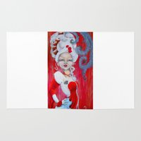 marie antoinette Area & Throw Rugs featuring Marie-Antoinette by CokecinL