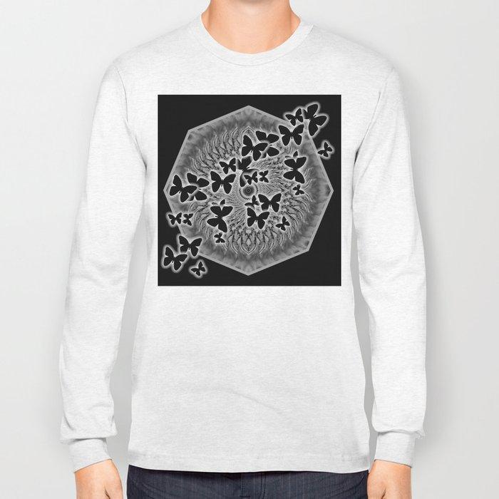 Dark butterfly kaleidoscope Long Sleeve T-shirt