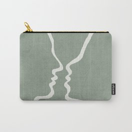 Abstract Couple Carry-All Pouch