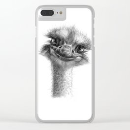 Hello-you ostrich sk130 Clear iPhone Case