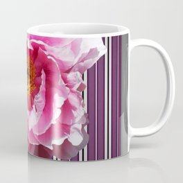 PINK PEONY GREY-PURPLE PATTERN Coffee Mug