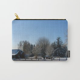 Snowy Barn and field Washington State Carry-All Pouch