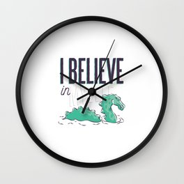 I think only of myself Loch Ness Wall Clock