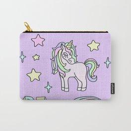 Unicorn Neck Gator Be a Unicorn Purple Unicorn Carry-All Pouch