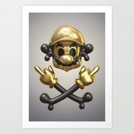 Undead Icons. Mario Art Print