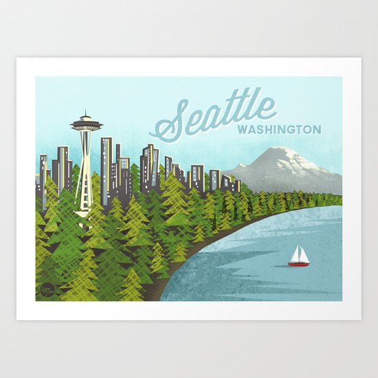 Seattle Sound Art Print