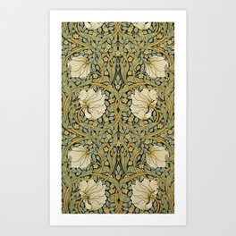 William Morris Pimpernel Art Nouveau Floral Pattern Art Print