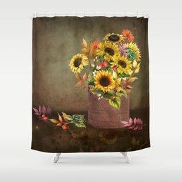 Pretty Even in a Rusty Bucket Shower Curtain