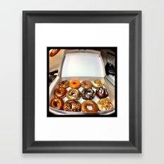 Krispy Kreme. Framed Art Print